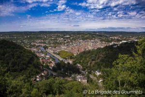 Vue panoramique sur Villefranche-de-Rouergue
