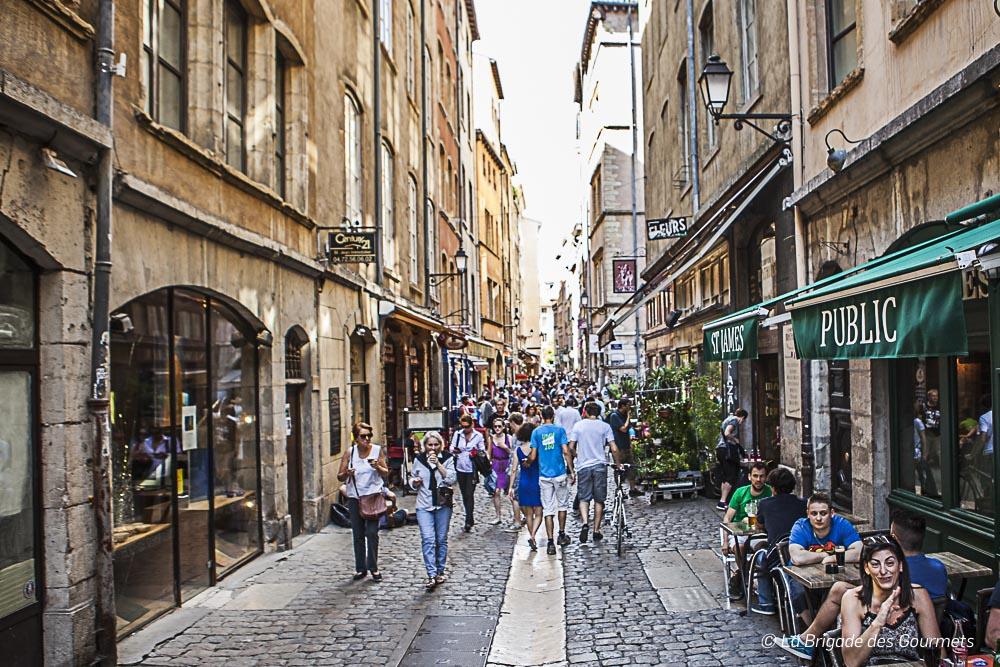 Rue pavé du Vieux Lyon