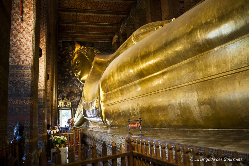Le Bouddha couché en plein cœur de Bangkok.