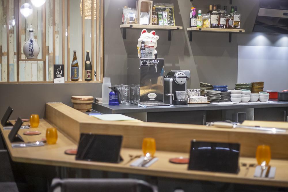 Vue de l'intérieur du restaurant