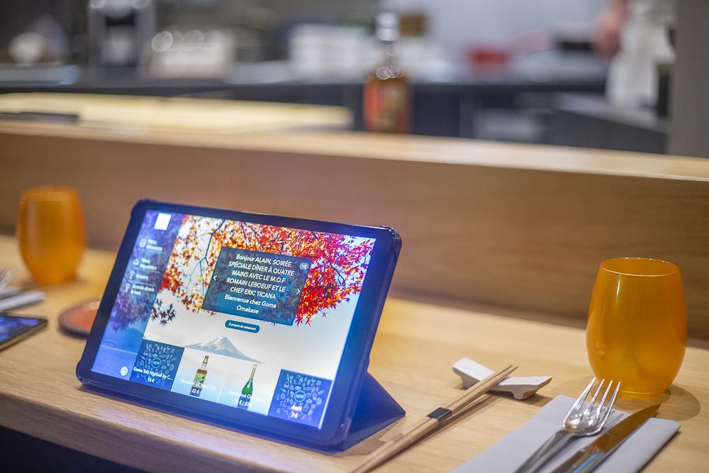 La tablette qui permet de choisir son menu