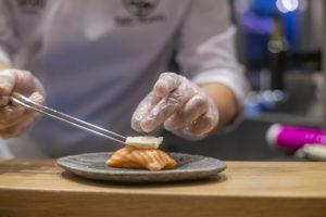 Sushi saumon/brie