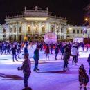 La grande patinoire hivernale de Vienne